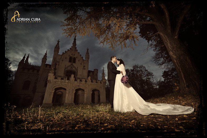 castel Miclauseni, iasi, sedinta foto ttd trash the dress, love the dress