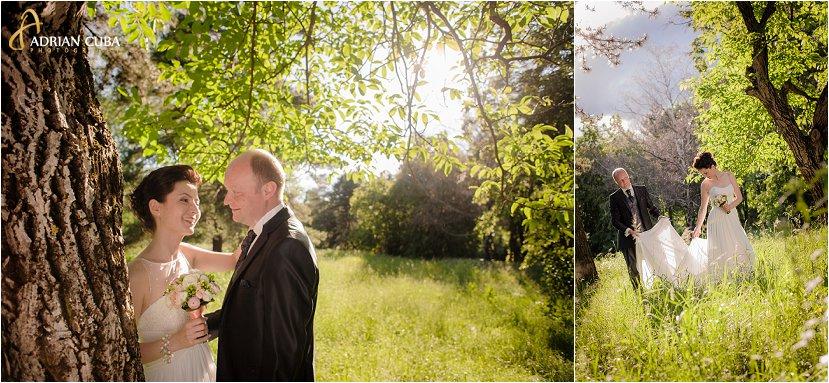 fotograf Iasi, fotograf nunta Iasi, sedinta foto nunta, sesiune foto miri in Gradina Botanica Iasi, rochie mireasa, buchetul miresei