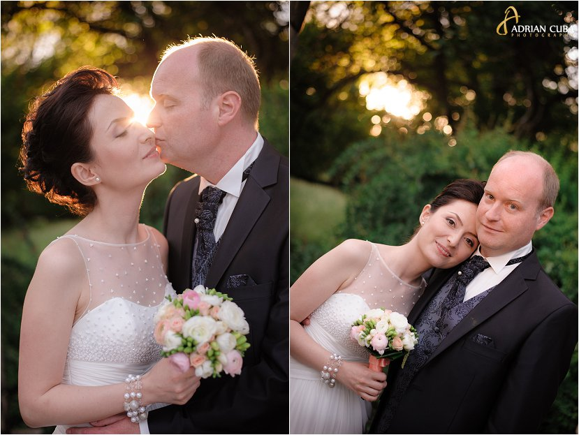 fotograf Iasi, fotograf nunta Iasi, sedinta foto nunta in natura, sesiune foto miri in Gradina Botanica Iasi, rochie mireasa, buchetul miresei