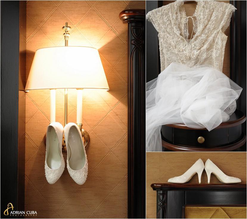 fotograf nunta iasi, pantofi mireasa, rochie mireasa
