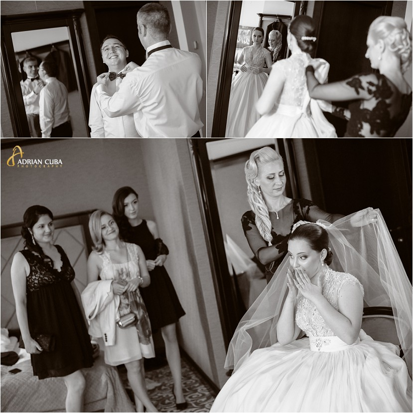 fotograf nunta Iasi la gatitul mrilor, mireasa si nasa, mirele si nasul