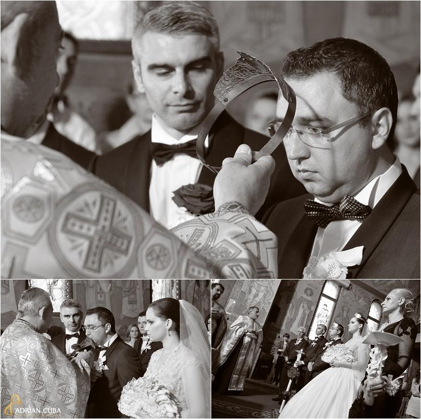 fotograf nunta iasi, cununie religioasa, mirele si nasul la biserica