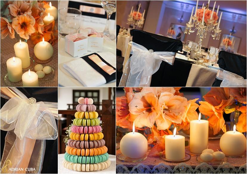 fotografie nunta Iasi, aranjamente florale pentru nunta la restaurantul Bellaria