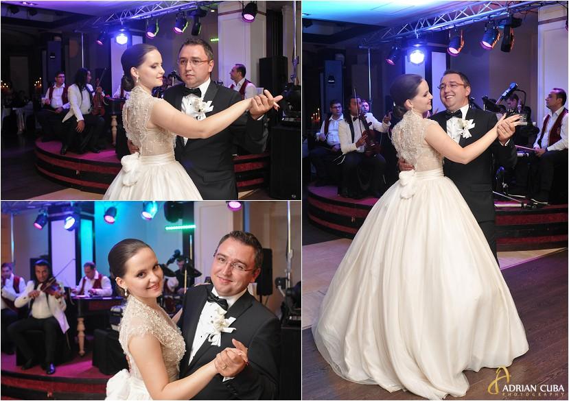 fotografie nunta Iasi, petrecere la restaurantul Bellaria, dansul mirilor