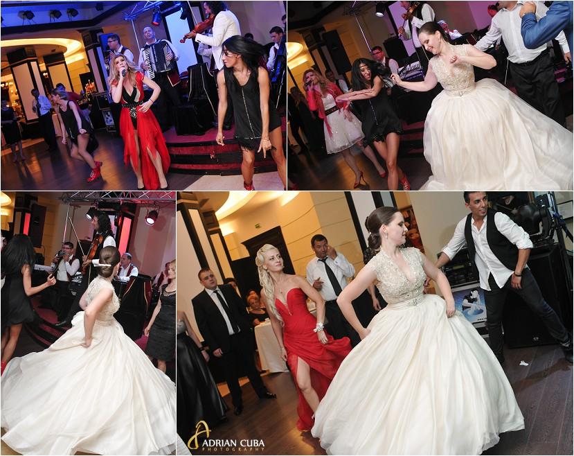 fotografie nunta Iasi, petrecere la restaurantul Bellaria, taraful Cleante si solista Diana Matei