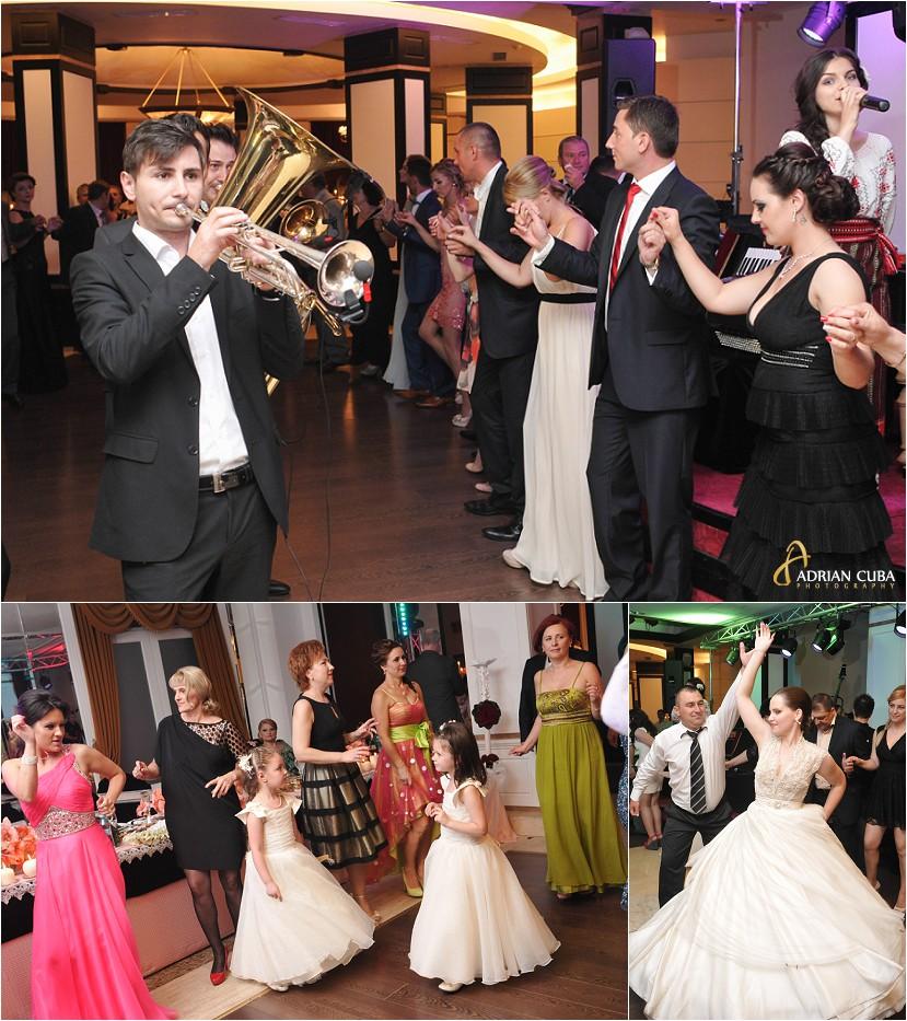 fotografie nunta Iasi, nunta restaurant Bellaria, fanfara Adamos Brass