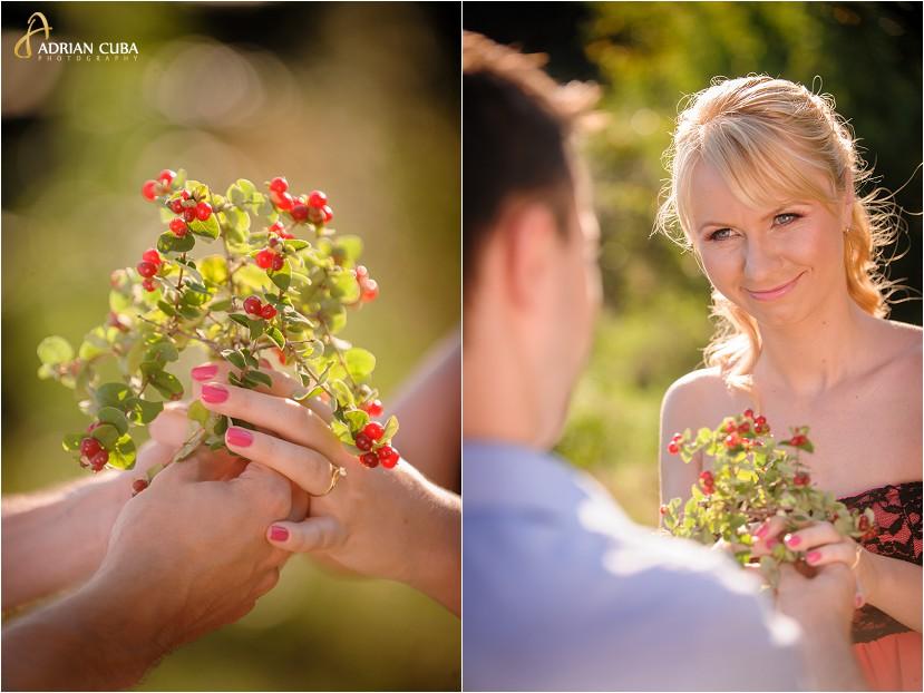 Sesiune foto logodna in Gradina Botanica Iasi, fotografii realizate de Adrian Cuba fotograf Iasi