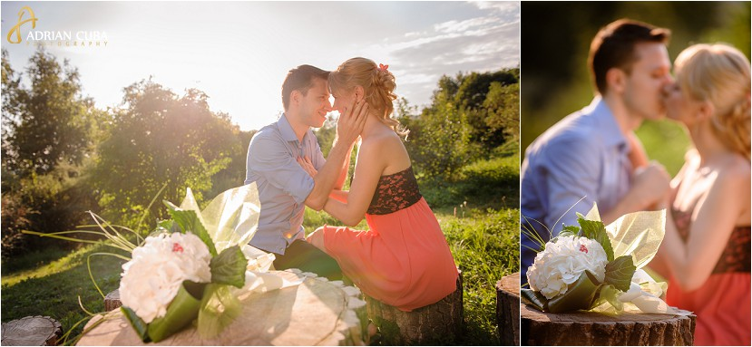 Sedinta foto logodna in Gradina Botanica Iasi, fotografii realizate de Adrian Cuba fotograf Iasi