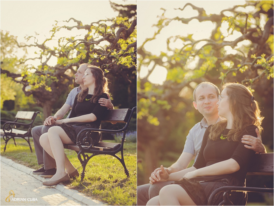Sedinta foto logodna in Gradina Botanica din Iasi, realizata de fotograf Adrian Cuba, cu Iudita si Sergiu, 08
