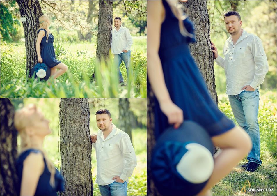 Tineri la sesiune foto logodna inainte de ziua nuntii.
