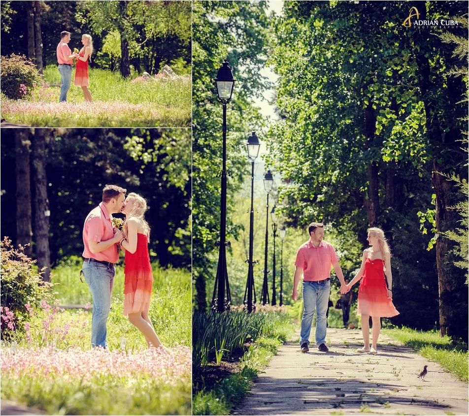 Sedinta foto logodna in Gradina Botanica Iasi.