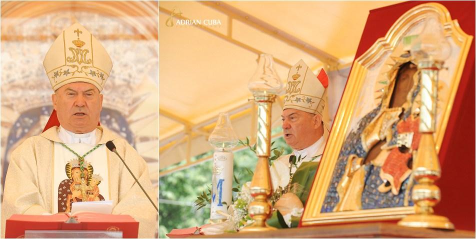PS Petru Gherghel predica la Liturghia hramului bisericii Adormirea Maicii Domnului din cacica