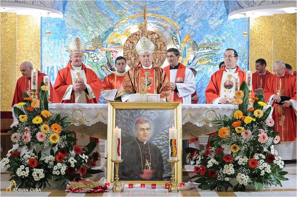 Prima celebrare solemna a Fericitului Anton Durcovici, in categrala catolica din Iasi.