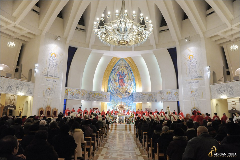 Catedrala catolica din Iasi, la prima celebrare solemna a Fericitului Anton Durcovici.