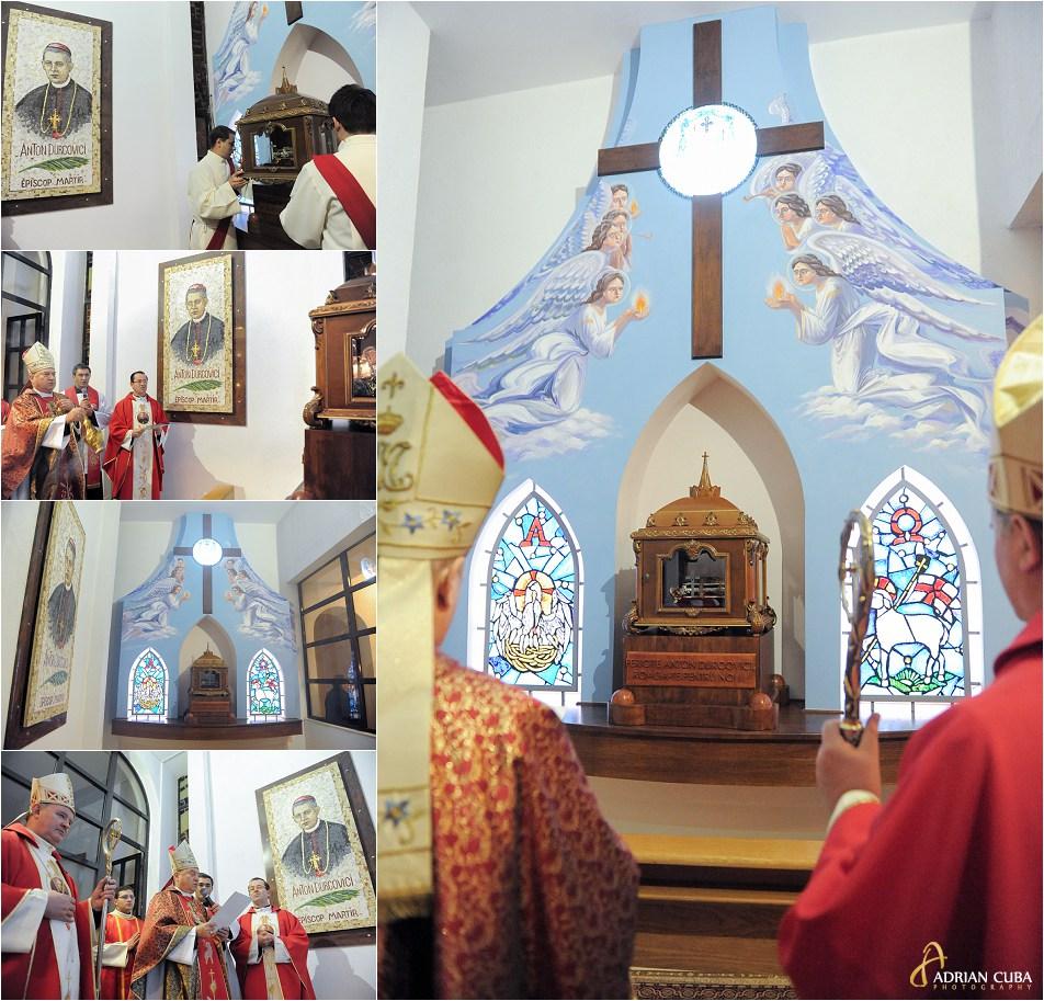 Fericitul Anton Durcovici este celebrat pentru prima data. Relicvele sale au fost depuse in capela din catedrala catolica din Iasi, aceasta fiind sfintita de PS Petru Gherghel.