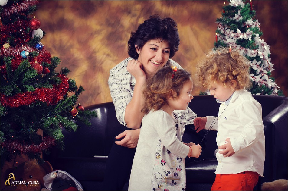 Sesiune foto familie de Craciun.