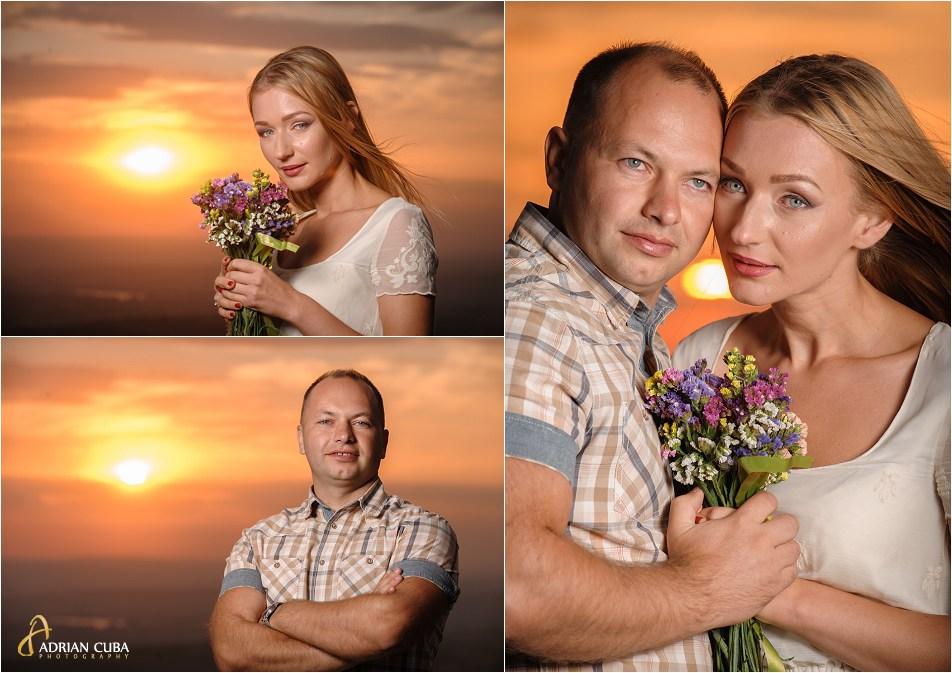 Portrete de tinei la apus de soare, in sesiune foto logodna.