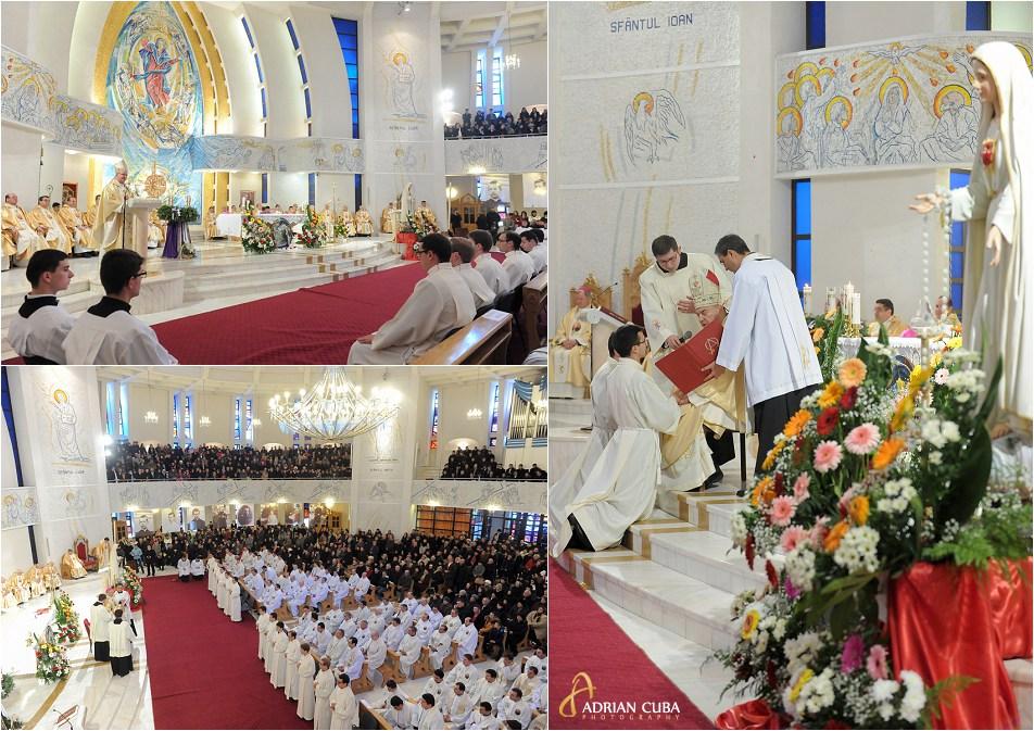 PS Aurel Perca. episcop auxiliar de Iasi, la slujba de sfintire a 13 diaconi, in Catedrala catolica din I, 2014