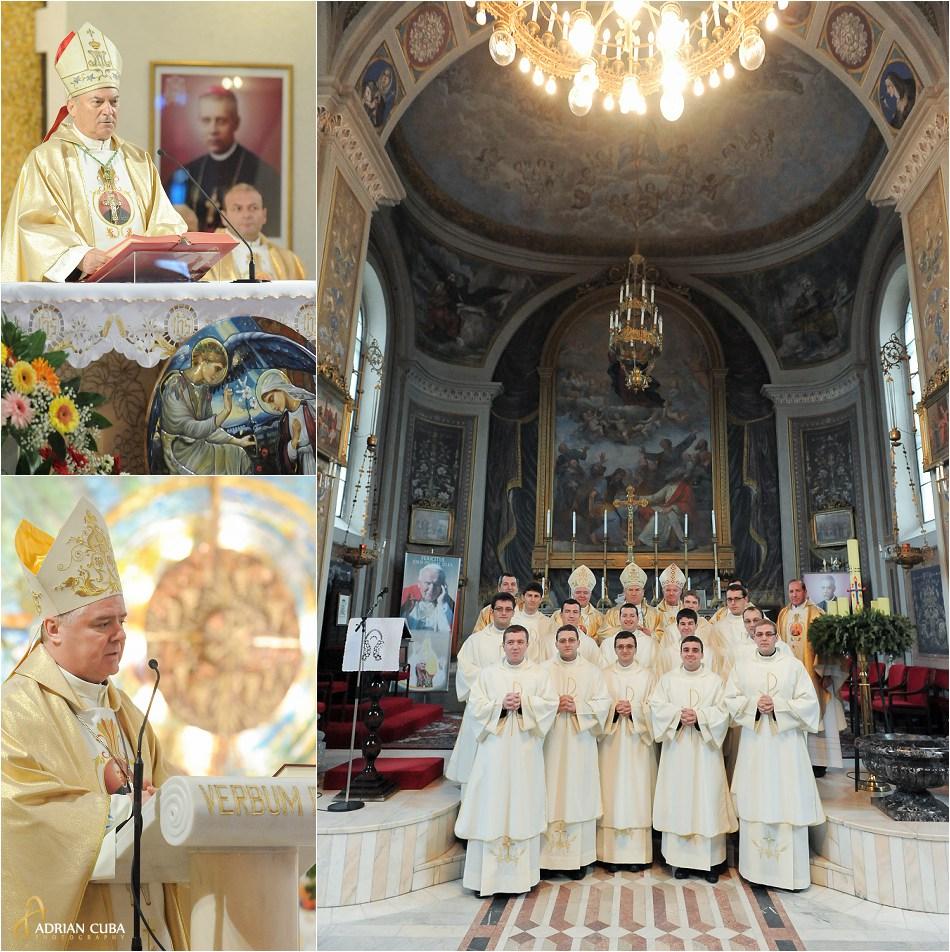 PS Petru Gherghel si PS Anton Cosa, sfintire diaconi in catedrala catolica din Iasi