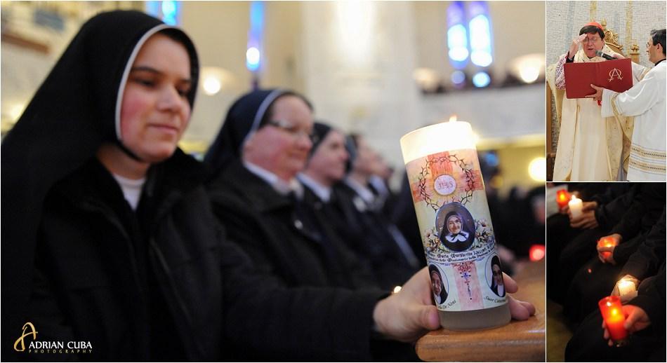 Calugarite participa la sfanta Liturghie celebrata la Iasi de Cardinalul João Braz de Aviz