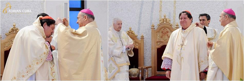 Cardinalul Joao Braz de Aviz si episcopul Petru Gherghel.