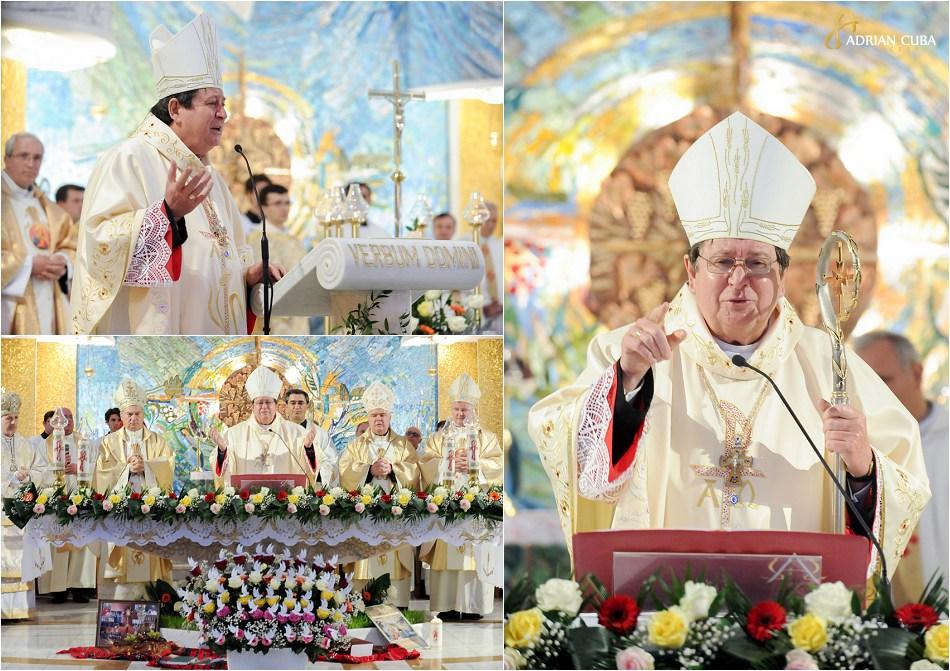 Cardinalul Joao Braz de Aviz si episcopii Petru Gherghel, Florentin Crihălmeanu, Anton Coşa şi Aurel Percă