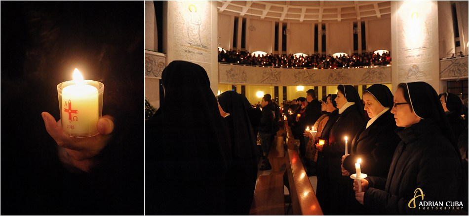 Surori participa la Liturghia Invierii in catedrala catolica Iasi