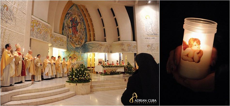 Liturghia Invierii, Pastele catolic, la catedrala din Iasi.