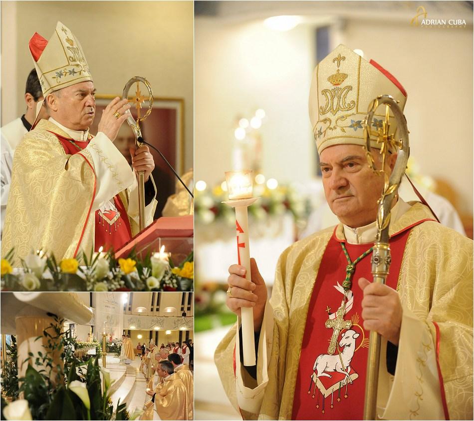 "Pastele catolic 2015, episcopul Petru Gherghel in catedrala ""Sfanta Fecioara Maria, Regina"" din Iasi"