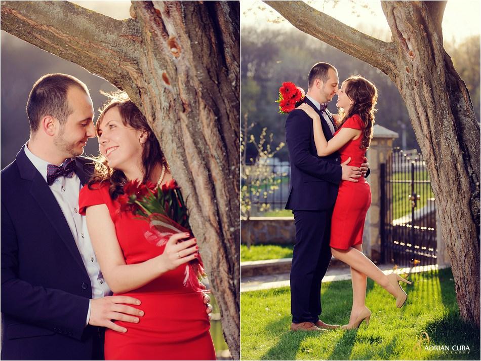 Tineri imbratisati la sedinta foto logodna in iasi.