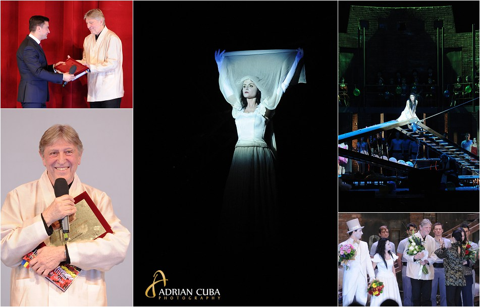 """Recizorul Andrei Serban primeste titlul de """"Cetatean de Onoare al Municipiului Iasi"""" pe scena Operei Nationale Romane, sambata 9 ianuarie 2016, din partea primarului Mihai Chirica."""