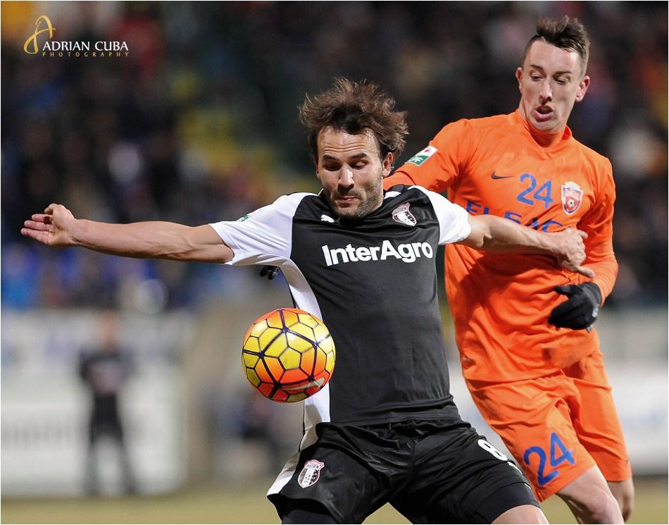 Astra Giurgiu (negru) a invins cu scorul de 1-0 echipa FC Botosani, in cadrul etapei 25 a Ligii ! de fotbal