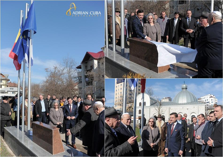 Ambasadorul Israelului in Romania, Excelenta Sa Tamar Samash inaugureaza Piata Prieteniei Romano-Israeliene din Iasi.