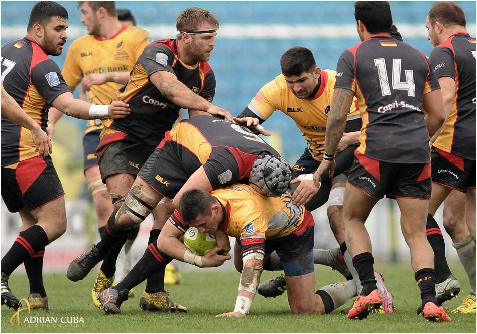 """Meciul de rugby Romania-Germania pe stadionul """"Emil Alexandrescu"""" din Iasi."""