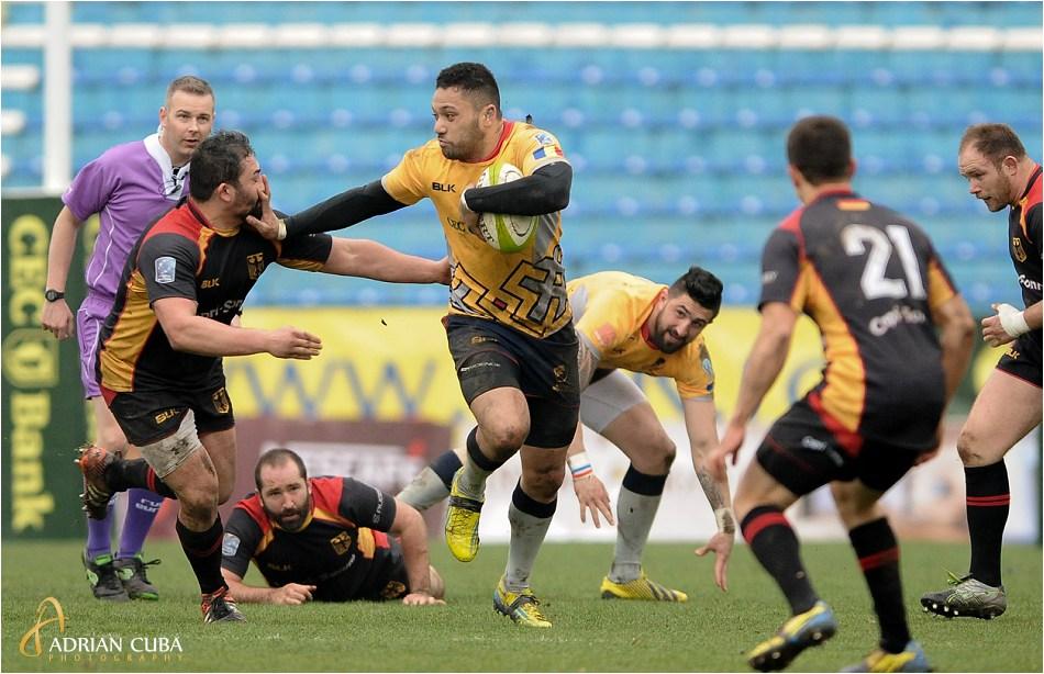 Echipa nationala de rugby a Romaniei a invins cu scorul de 61-7 echipa de rugby a Germaniei in Cupa Europeana a Natiunilor.