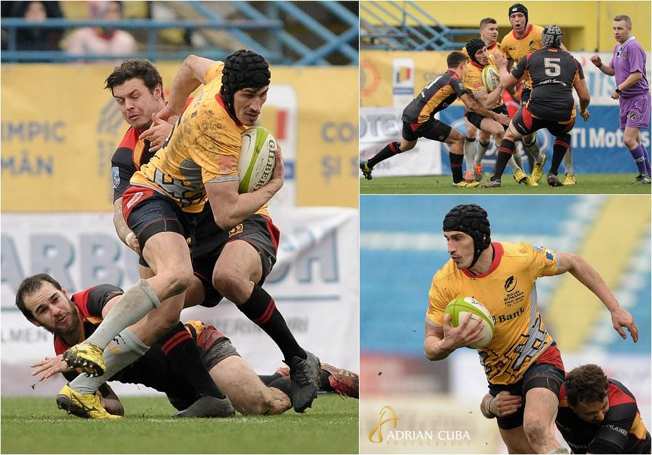 """Rugby Romania-Germania, pe stadionul """"Emil Alexandrescu"""" din Iasi."""