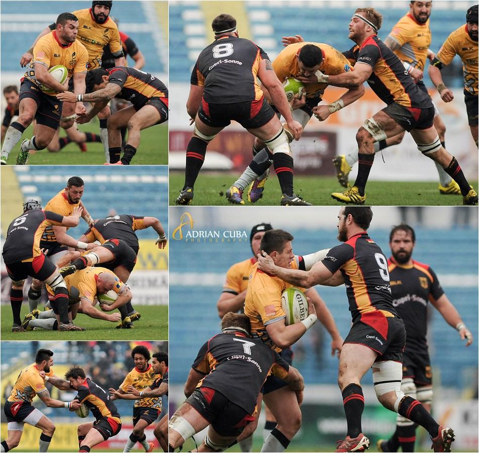 Meciul de rugby Romania-Germania in Cupa Europeana a Natiunilor.