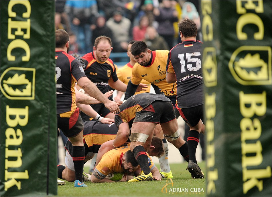 Rugby Romania-Germania 61-7 in Cupa Europeana a Natiunilor.